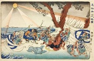 Nichiren Daishonin at Tatsunokuchi